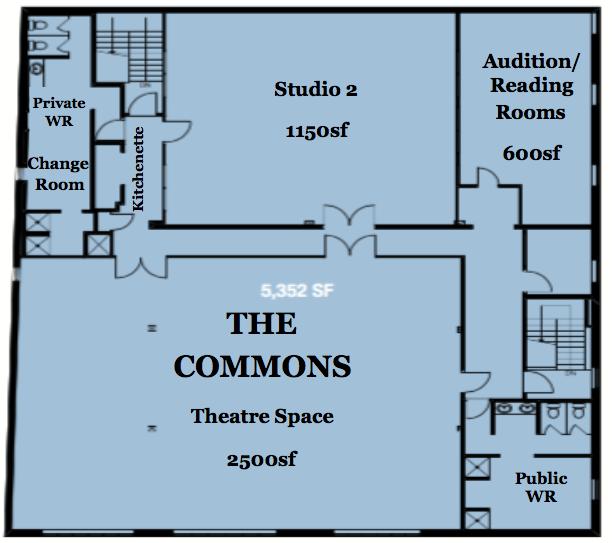 The commons floorplan